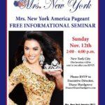 Mrs. New York America Free Information Seminar