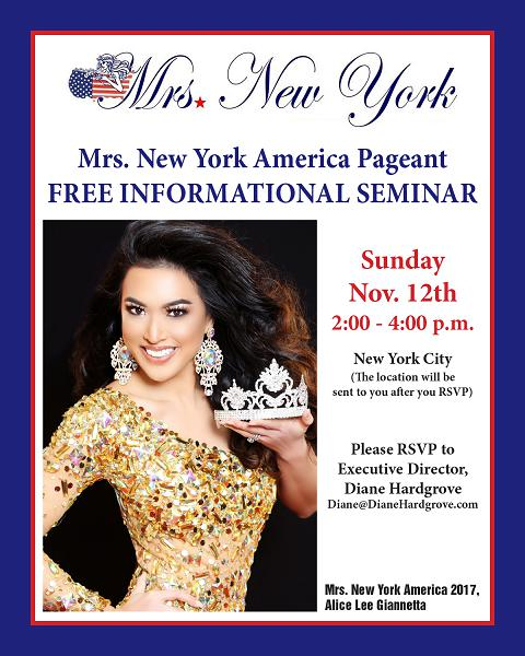 Mrs. New York America Free Information Seminar